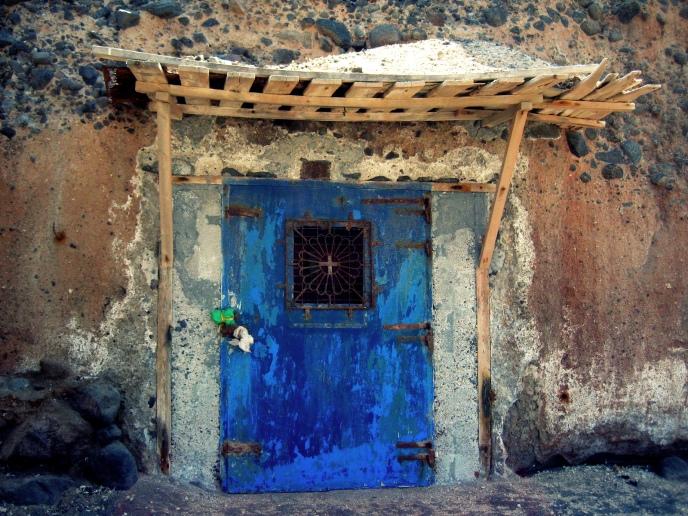 dilapidated door